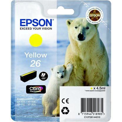 Изображение Картридж Epson 26 XP600/605/700 yellow