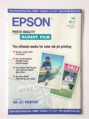 Изображение Пленка Epson A4 Photo Quality Glossy Film