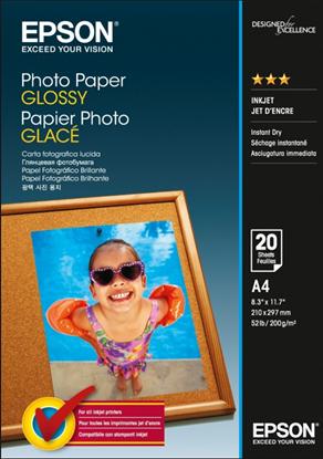 Изображение Бумага Epson A4 Photo Paper, (25л, 200г/м2, глянцевая, для повседневной струйной фотопечати)