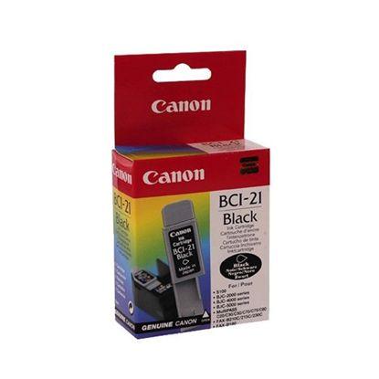 Изображение Картридж Canon BCI-21Bk Black для BJC-2000/2100/4000/4100/4200/4300/4400/4550/4650/5100/5500, BJ-S100, MultiPASS C20/C50/C70/C75/C80, FAX-B210C/215C/230C